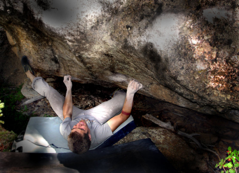 """Rock Climbing Photo: Jason Baker quickly dispatches the F.A. of """"T..."""