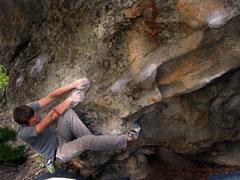 "Rock Climbing Photo: Jason Baker on his own creation ""Huhly Muhly ..."