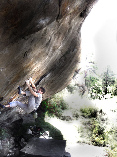 Rock Climbing Photo: Jason Baker going for it all on the (V12-V13) mega...
