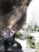 Rock Climbing Photo: Jason Baker going for it all on the (V12-V13) mega...