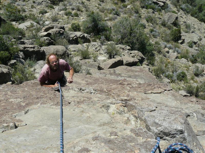 Rock Climbing Photo: Tucker Tech on the Sunshine Slab  Photo Todd Gordo...