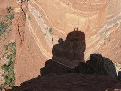 Rock Climbing Photo: Tucker Tech and Todd Gordon on summit.  Photo Todd...