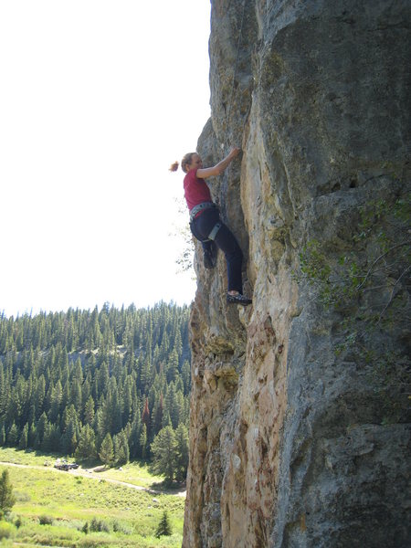 Rock Climbing Photo: Working through the lower crux of Rafting With Red...