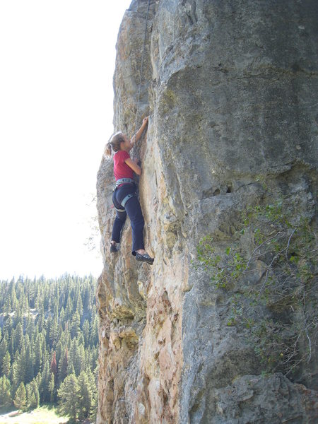 Rock Climbing Photo: Finishing up the low crux.