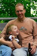 Rock Climbing Photo: The boy and I at the cabin, June 09.