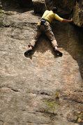 Rock Climbing Photo: Finishing the slabby start.