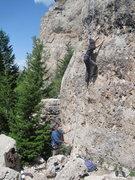 Rock Climbing Photo: Starting up One Eyed Jack.