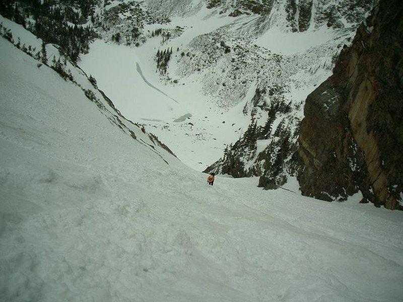 Rock Climbing Photo: Dragontail Couloir RMNP