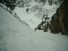 Rock Climbing Photo: Dragontail Couloir RMNP