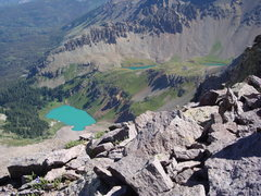 Rock Climbing Photo: Blue Lakes Basin