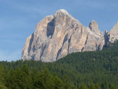 Rock Climbing Photo: The main, classic south face buttresses can be see...