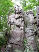 Rock Climbing Photo: Lincoln's Chair. On the far left corner is the &qu...