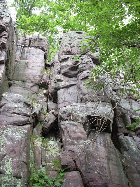 "Rock Climbing Photo: The climb to right of the ""chair"" is the..."