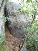Rock Climbing Photo: This good looking sloper boulder problem lies down...