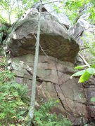 Rock Climbing Photo: Overhang boulder problem a few yards north of &quo...