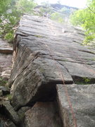 Rock Climbing Photo: Ribless climbs the left face and arete.  Ribs clim...