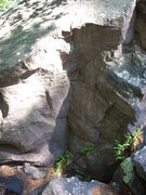 "Rock Climbing Photo: This corner is directly below ""Super Slab&quo..."