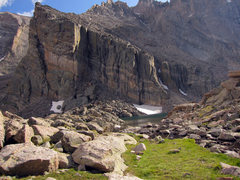 Rock Climbing Photo: Ship's Prow from the North East end of Chasm Lake.