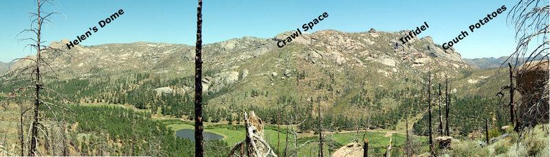 Hidden Valley from above Goose Creek.