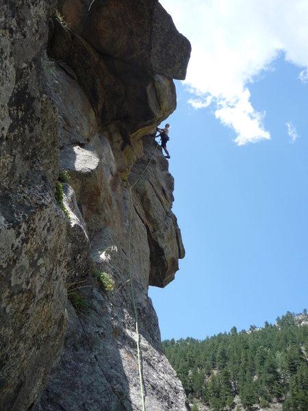 Rock Climbing Photo: Turning the corner.  Photo: Roth.