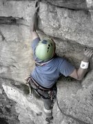 Rock Climbing Photo: My buddy Joe on his third outdoor pitch ever - Cru...