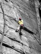 Rock Climbing Photo: The feel-good climb of the year: Rhododendron.