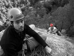 Rock Climbing Photo: PW and I on our first trip to Cathedral Ledge in N...