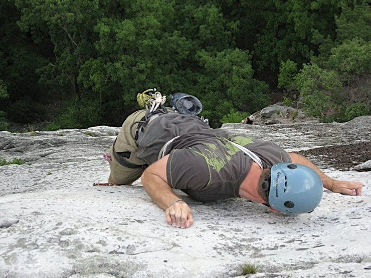 "Rock Climbing Photo: PW putting the finishing touches on ""Arrow&qu..."