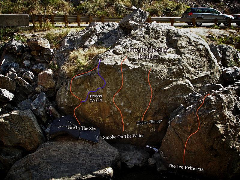"Photo Beta for ""The Ice Princess Boulder."""