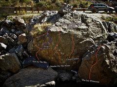 "Rock Climbing Photo: Photo Beta for ""The Ice Princess Boulder.&quo..."