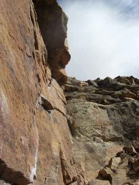 Ship's Prow, curving crack.