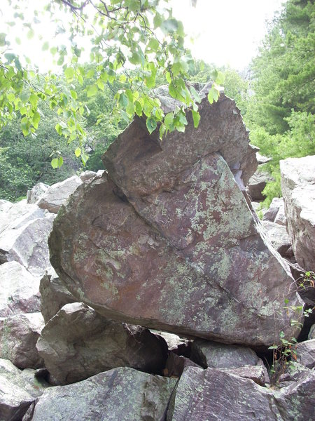 "Rock Climbing Photo: This boulder is in the ""Slant"" boulder f..."