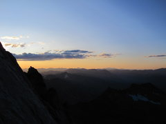 Rock Climbing Photo: From north slabs rappel station after soloing back...