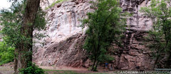 Rock Climbing Photo: Panoramic photo of booth sides of the Rotary Rink ...