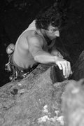 Rock Climbing Photo: my dad (ernie) on this fun unknown moderate...