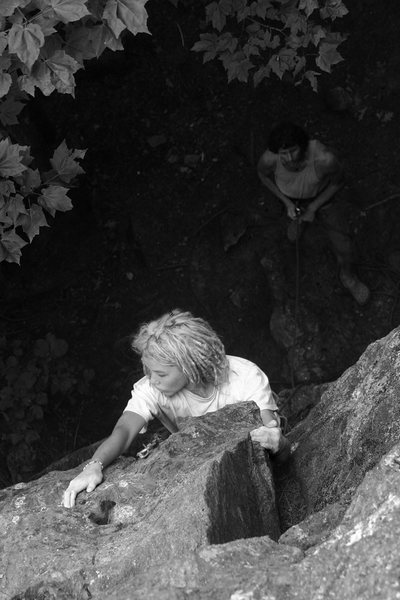 Rock Climbing Photo: Lily on the short crux...