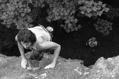 Rock Climbing Photo: Ernie aka Padre getting in to the easy top section...