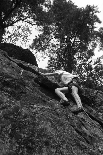 Rock Climbing Photo: Lily jogging up to the chains on the easy second h...