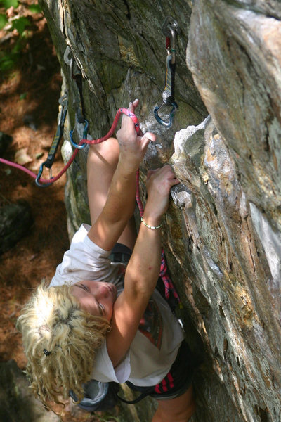 Rock Climbing Photo: Im not too in to clipping pics but i like this one...