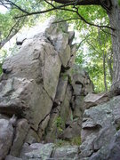 Rock Climbing Photo: North face of Go Go Tower. There is no known route...