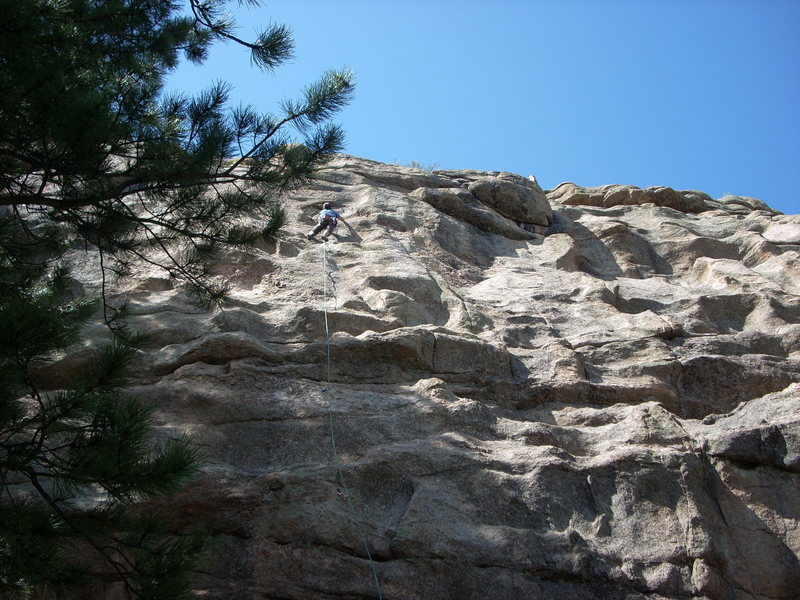 Rock Climbing Photo: Scoop Deville. Two, maybe 3 moderates are to the r...