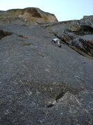 Rock Climbing Photo: Tom leading the stellar 2nd pitch.