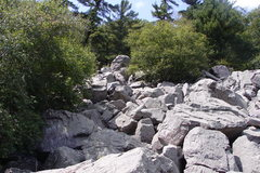 Rock Climbing Photo: The Headstone Boulder from the trail below.