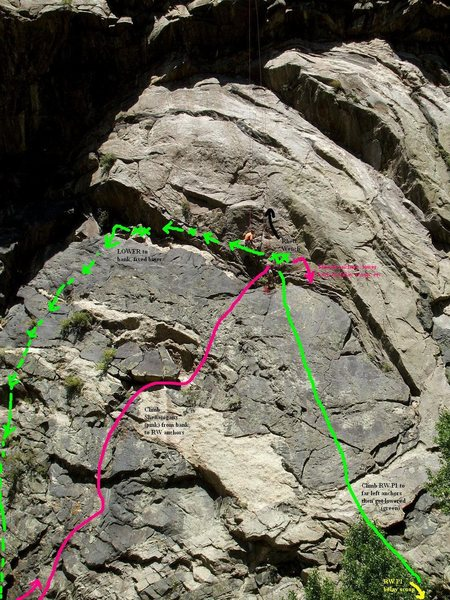 Rock Climbing Photo: The Shenanigans in order to get over to Brennivin ...