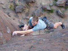 Rock Climbing Photo: Red C3. Small gear on this route. Nuts protect it ...