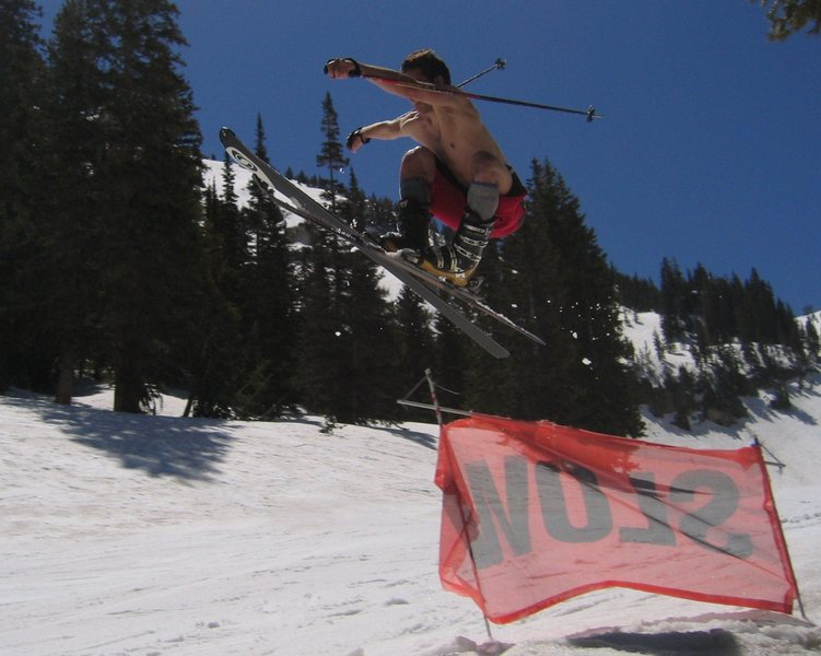 Rock Climbing Photo: spring skiing at the bird
