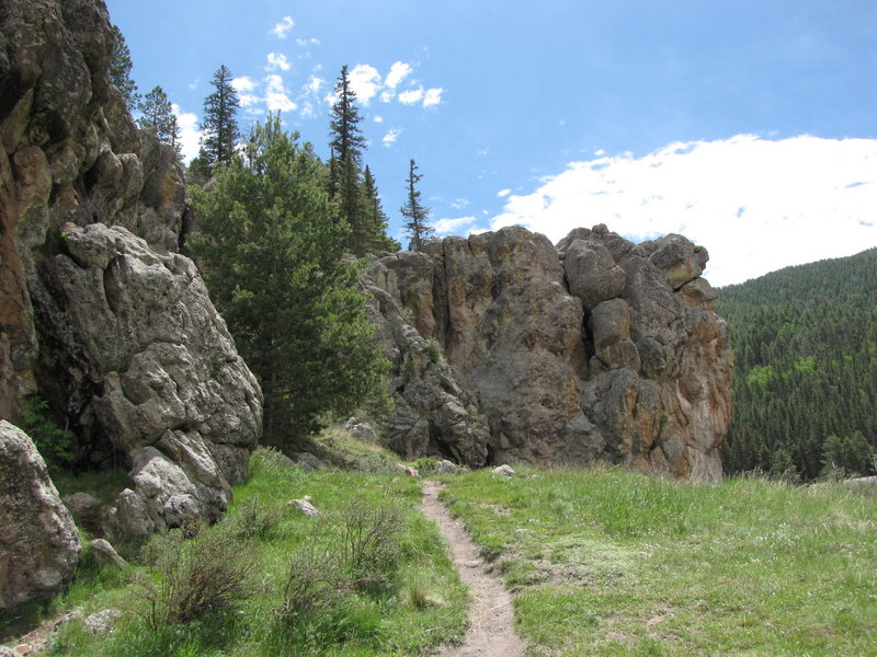 Rock Climbing Photo: Looking at Roadside Attraction form the end of Cat...