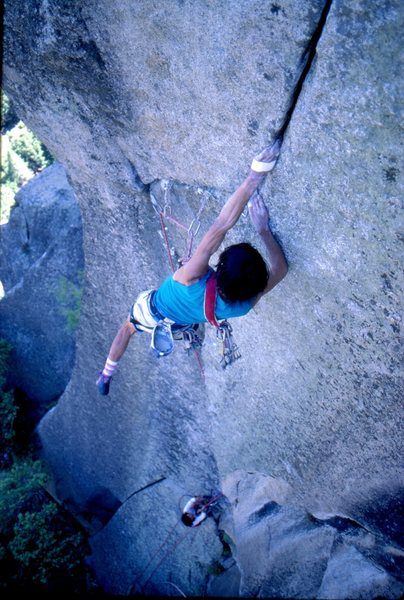 Rock Climbing Photo: Hidetaka Suzuki, 1987  photo by bob gaines