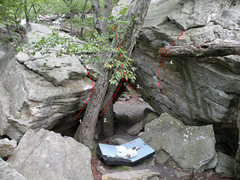Rock Climbing Photo: Standing with my back to the Satellite #1 boulder ...