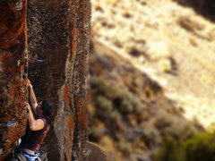 Rock Climbing Photo: Eilza just past the crux